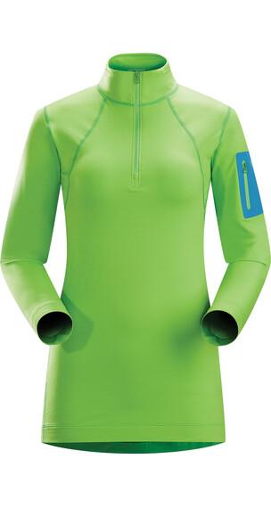 Arc'teryx W's Rho LT Zip Neck Midori Green